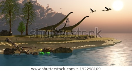 Prehistoric Morning - Flying Overhead Stock photo © AlienCat