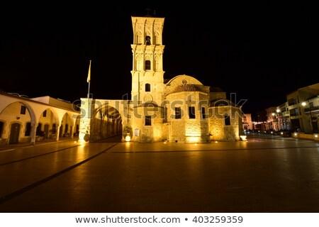 Kerk nacht Cyprus aanbidden architectuur Stockfoto © Kirill_M