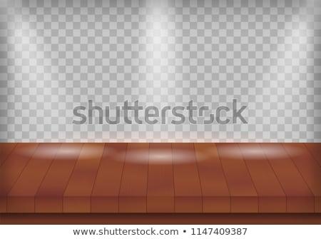 木製 テクスチャ スポットライト eps 10 ベクトル ストックフォト © beholdereye