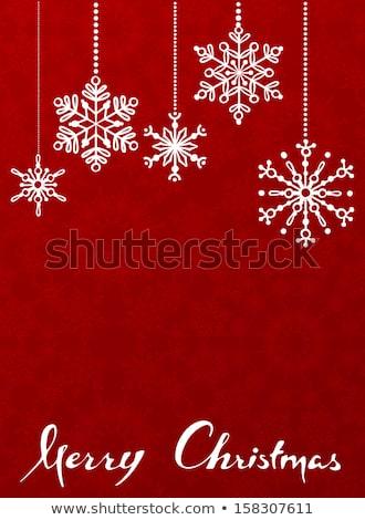 Snowflake christmas with white snow flake. EPS 8 Stock photo © beholdereye