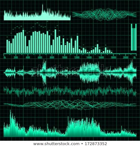 Сток-фото: звук · волны · набор · музыку · прибыль · на · акцию · 10