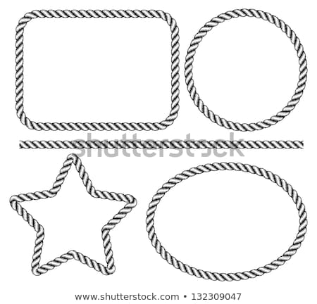 Rope frames with loops - square and round Stock photo © Winner