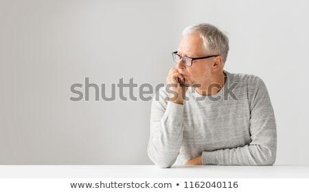 Idős lehangolt üzletember gondolkodik gondok üzlet Stock fotó © zurijeta