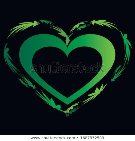 Canabis maconha projeto ícone vetor verde Foto stock © TRIKONA