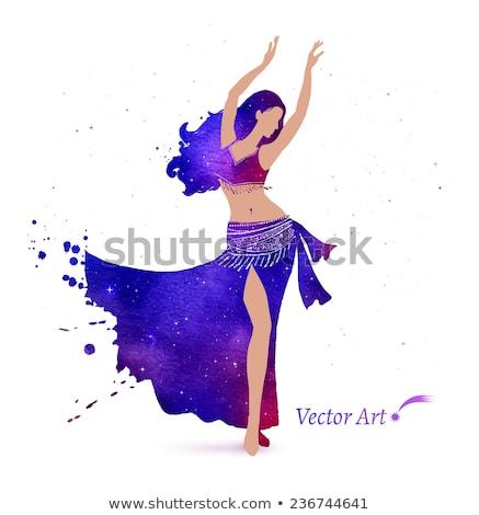 Lány has tánc ruha divat modell Stock fotó © fanfo
