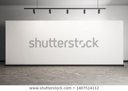 blank frame on a white gallery wall Stock photo © plasticrobot