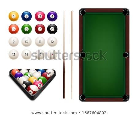 köşe · bilardo · masası · cep · havuz · punk · oynamak - stok fotoğraf © simply