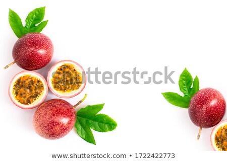 yarım · tohumları · düşen · dışarı · meyve · kırmızı - stok fotoğraf © conceptcafe