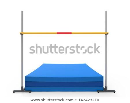 Hoogspringen bar uitrusting illustratie achtergrond kunst Stockfoto © bluering