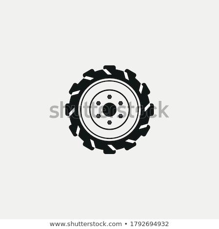 ciągnika · opon · biały · transportu · opony · maszyn - zdjęcia stock © ivicans