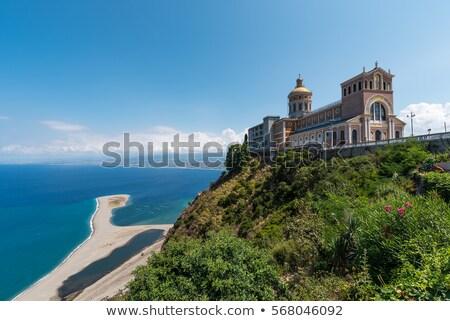 Praia sicília Itália norte costa água Foto stock © elxeneize
