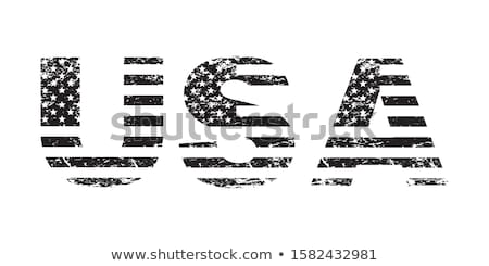 American patriot wearing white shirt with USA flag print Stock photo © stevanovicigor