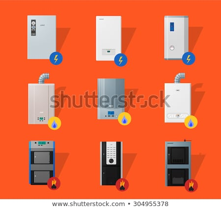 Different boilers flat icons Stock photo © Yuriy