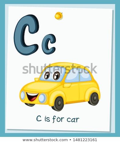 C betű gyerekek illusztráció háttér művészet barátok Stock fotó © bluering