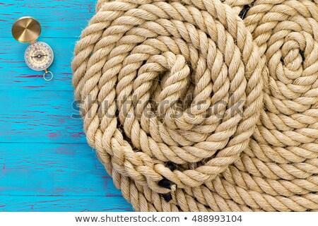 Rana liny kompas naturalnych włókno otwarte Zdjęcia stock © ozgur