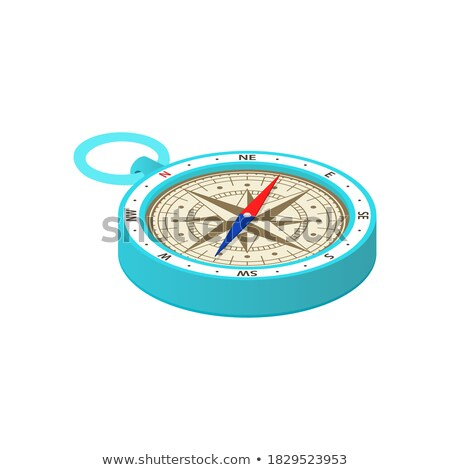 3D red and blue compass arrow isolated on white background. Stock photo © tuulijumala