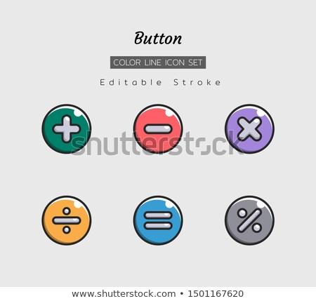 数学 ボタン カラフル 白 背景 赤 ストックフォト © bluering
