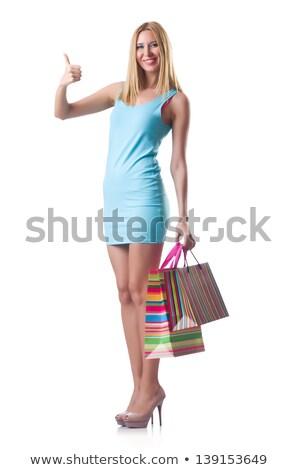 genç · kız · iyi · alışveriş · beyaz · kadın · mutlu - stok fotoğraf © elnur