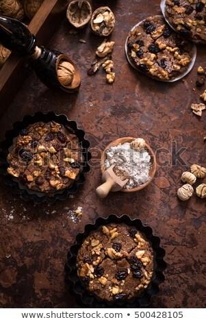 Olasz desszert gesztenye liszt aszalt gyümölcs Stock fotó © faustalavagna