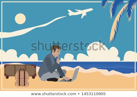 A vintage plane at the beach Stock photo © bluering