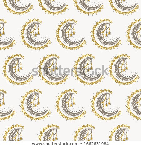 Crescent moon of stars at  Oriental style background. Islam east Stock photo © popaukropa