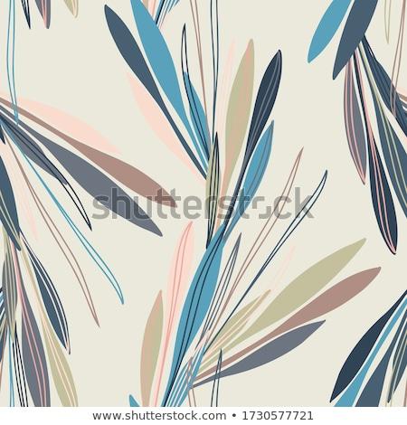 коллекция стилизованный лист природы черный завода Сток-фото © blackmoon979