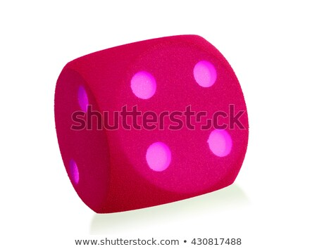 Large pink foam die isolated - 4 Stock photo © michaklootwijk