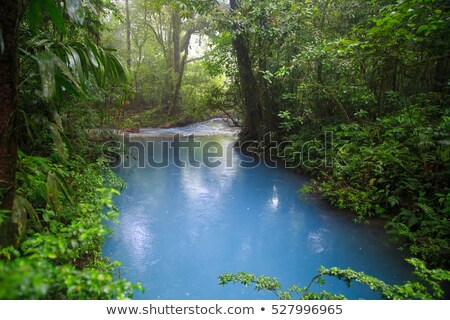 Rio celeste river at rainy day Stock photo © Juhku