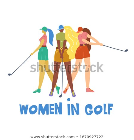 girl plays golf Stock photo © adrenalina