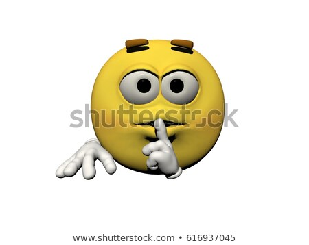 emoticon demand silence - 3d render Stock photo © mariephoto