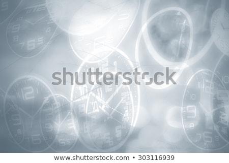 marrom · relógio · enferrujado · latão · ouro - foto stock © blackmoon979