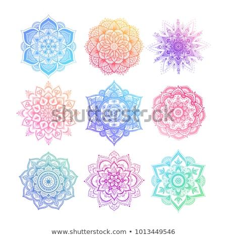 вектора цветок мандала цветочный дизайна красочный Сток-фото © odina222
