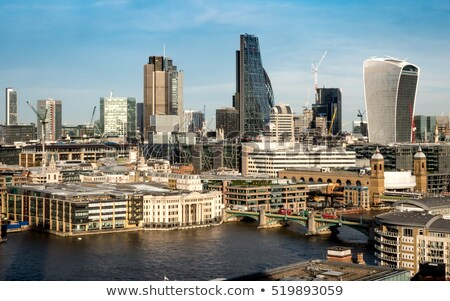 London pénzügyi negyed utca tér kovászos uborka épület Stock fotó © lunamarina