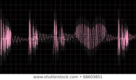 иллюстрация эквалайзер ЭКГ 3d иллюстрации формы сердца музыку Сток-фото © tussik