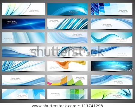 Abstrakten Mosaik Briefkopf Design-Vorlage drucken Corporate Stock foto © SArts
