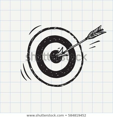 Lövöldözés cél rajz ikon vektor izolált Stock fotó © RAStudio