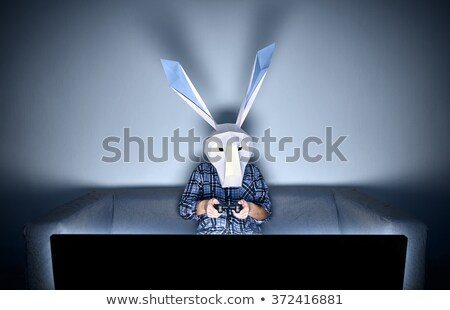 Rabbit gamer on the sofa Stock photo © dawesign