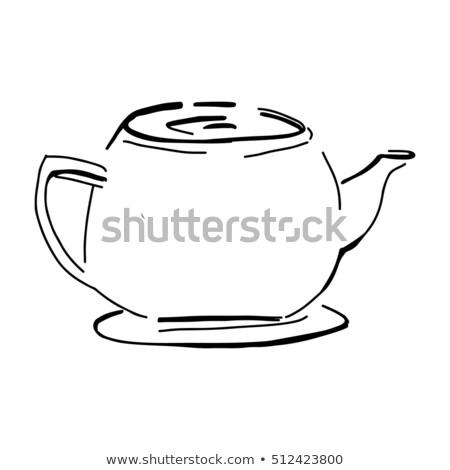 Cute thee citaat pot stoom Stockfoto © zsooofija