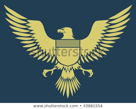 Vector illustration of coat-of-arms bird, Medieval Eagle of my own design Stock photo © oblachko