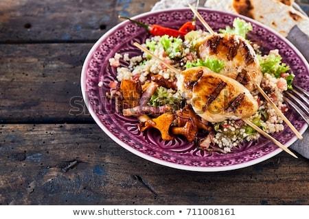Cuscús pollo tazón picante carne barbacoa Foto stock © Digifoodstock