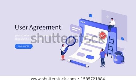 Signing of business contract vector illustration. Stock photo © RAStudio