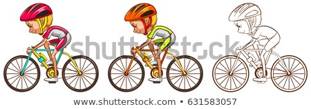 Drafting character for cyclist Stock photo © bluering