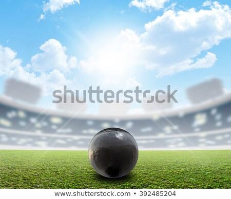bola · voador · ar · regular · golfball · ao · ar · livre - foto stock © albund