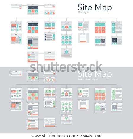 Sitio web estructura para página diseno sitio web Foto stock © Filata