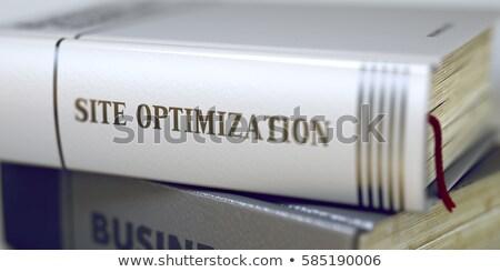 Helyszín optimalizálás üzlet könyv cím 3D Stock fotó © tashatuvango