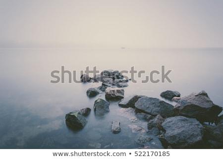 foggy river landscape stock photo © raywoo