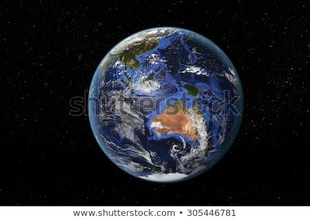 toprak · uzay · güney · Asya · ayrıntılı - stok fotoğraf © timh