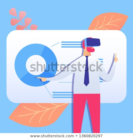 Işadamı adam kravat arayüz ekran Stok fotoğraf © wavebreak_media