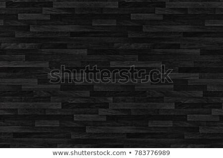 Stok fotoğraf: Black Wood Parquet Texture Background Old Panels