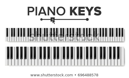 Stockfoto: Piano Keyboard Vector Realistic Isolated Illustration Musical Piano Key Top View Keyboard Pad